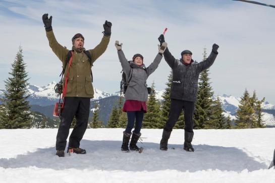 CHRISTMAS ICETASTROPHE -- Pictured: (l-r) Victor Webster as Charlie Ratchet, Jennifer Spence as Alex Novak, Mike Dopud as Ben Crooge -- (Photo by: Cinetel Films)